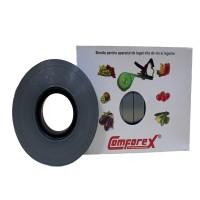 Banda pentru aparat de legat vita de vie si legume - ARGINTIE (cutie x 10 role) COMFOREX